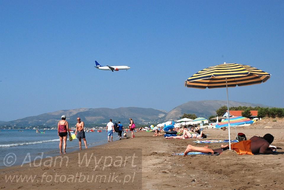 Szerokie i długie plaże Laganas wystarczą dla wszystkich, Zakynthos ... D80