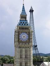 Big Ben i wieża Eiffla