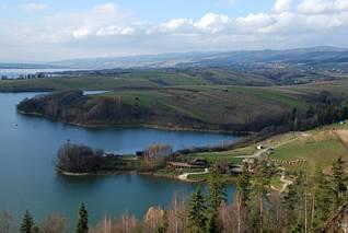 Zbiornik Czorsztyn - półwysep
