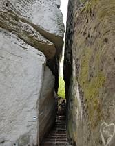 Główne atrakcje - wąskie korytarzyki