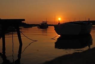 Banjole - zachód słońca