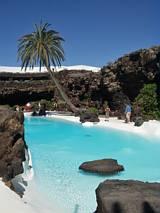 Lanzarote - sztuczna plaża i oaza