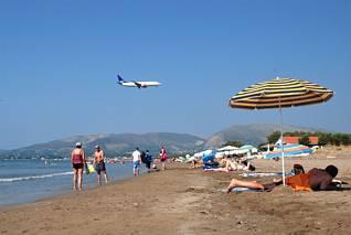 Laganas - plaża piaszczysta