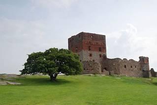 Hammershus - zamek od północy