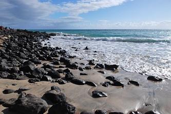 Kamienna plaża w Piedras Caidas
