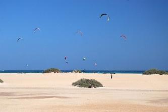 Kitesurfing w Corralejo