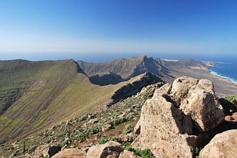 Widok z Pico de la Zarza na południe