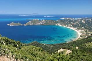 Plaża Agios Georgios i zatoka
