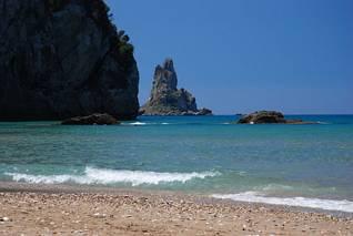 Tholeta z plaży Agios Gordios