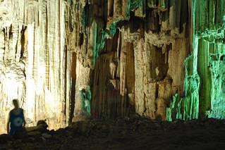 Kolumny w jaskini Melidoni