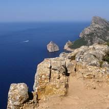 Formentor - widok ze wgórza